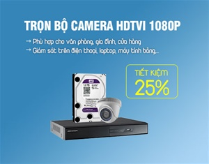 Trọn bộ camera HDTVI 2MP HIKVISION DS-2CE56D0T-IRP